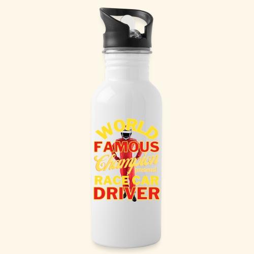 World Famous Champion Pretend Race Car Driver - Water Bottle
