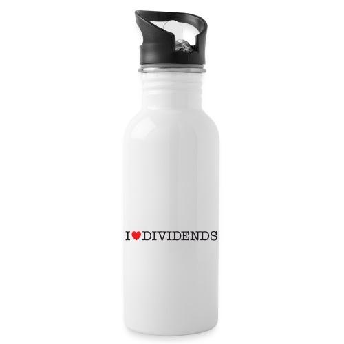 I love dividends - Water Bottle