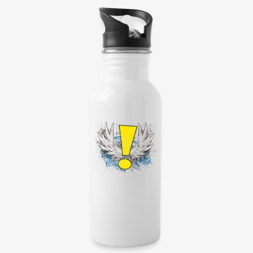 Winged Whee! Exclamation Point - Water Bottle