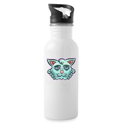 Happy Cat Teal - Water Bottle