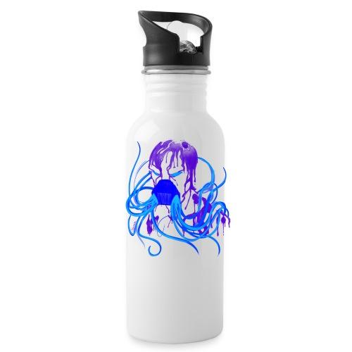 MCPBloodTshirtBLUE png - Water Bottle
