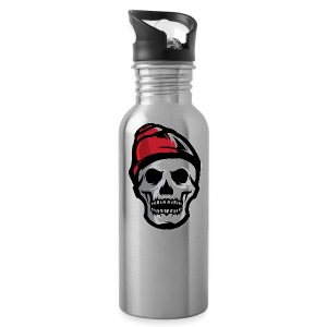 Custom Skull With Ice Cap Merch! - Water Bottle