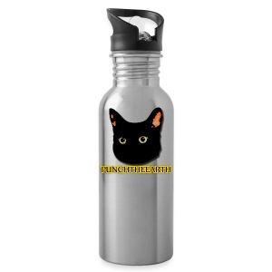 PunchTheEarth Cat with Text - Water Bottle