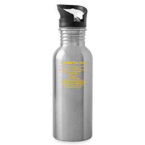 tshirt_pilotVersion_nologo_gold - Water Bottle