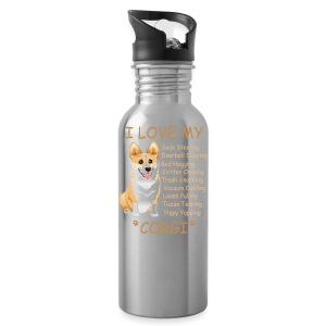 I Love My Corgi - Water Bottle