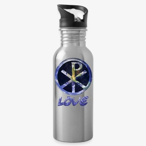 paxmundi space city lights love - Water Bottle
