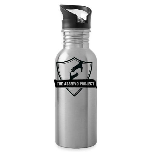 The Asservo Project Black Logo - Water Bottle