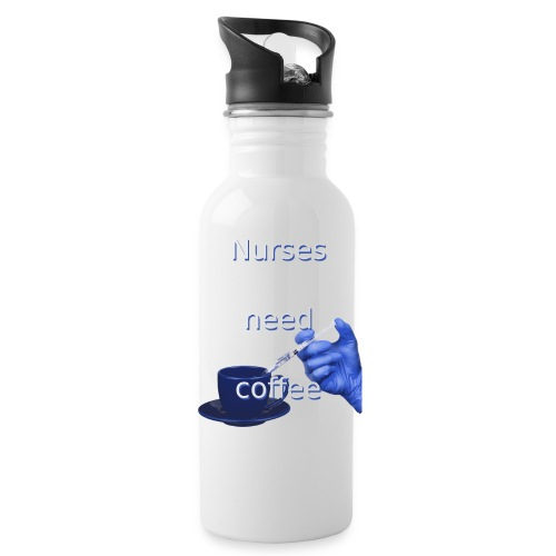 Nurses need coffee - Water Bottle