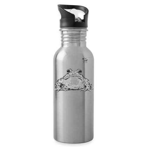 Frog with Fly by Imoya Design - Water Bottle