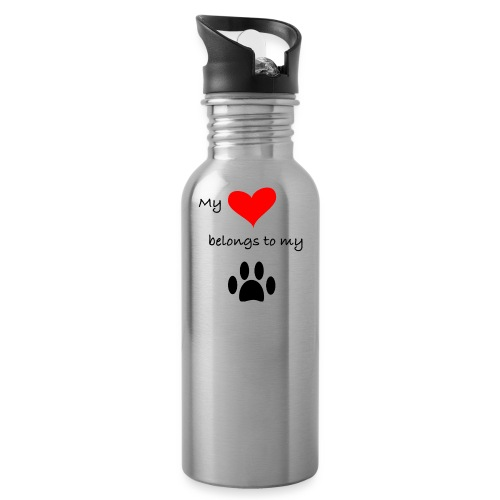 Dog Lovers shirt - My Heart Belongs to my Dog - Water Bottle