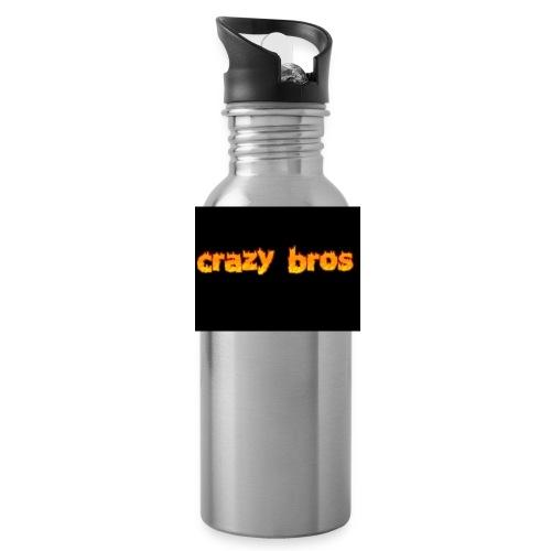 Crazy Bros logo - Water Bottle
