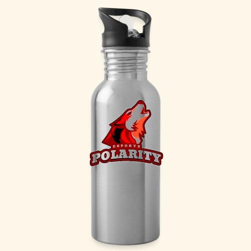 Red Polarity Logo - Water Bottle