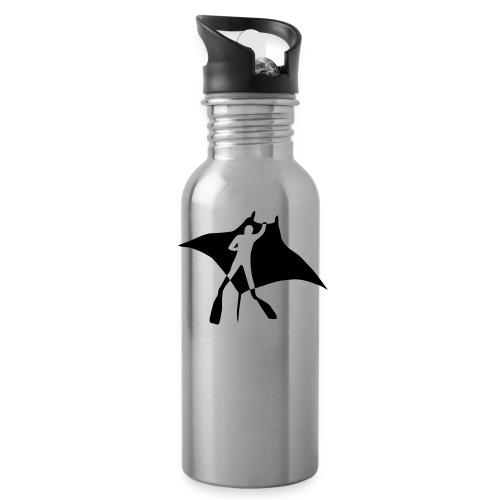 manta ray sting scuba diving diver dive fish ocean - Water Bottle