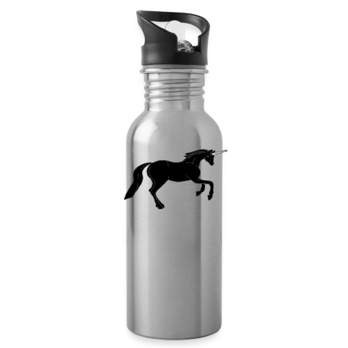 unicorn black - Water Bottle