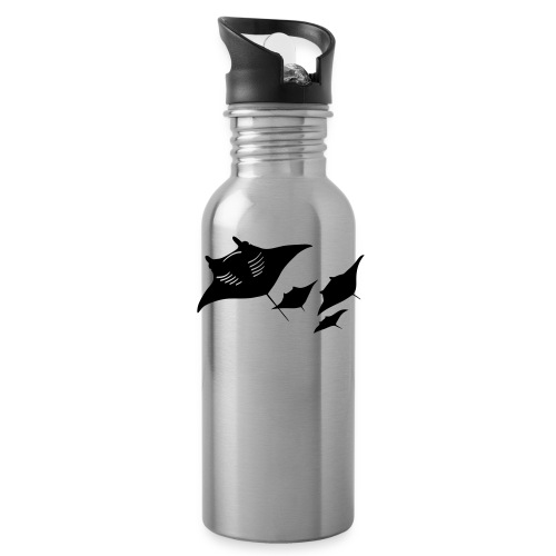 manta ray sting scuba diving diver dive - Water Bottle