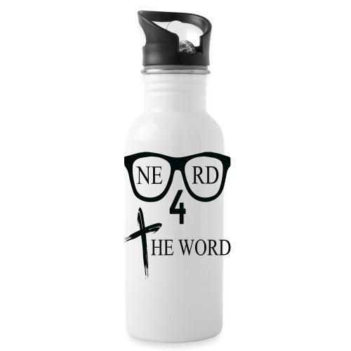 Nerd 4 The Word Design png - Water Bottle