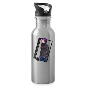 Vegas Prime Retrograde - Clara with Black Border - Water Bottle