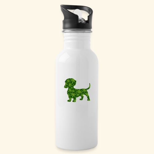 PUFFY DOG - PRESENT FOR SMOKING DOGLOVER - Water Bottle