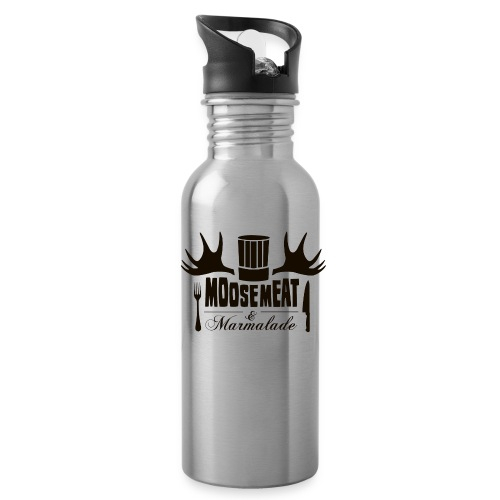 MandM Logo 2BLACK png - Water Bottle