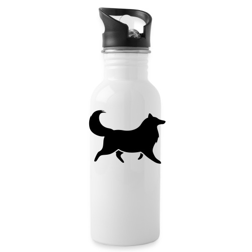 Collie silhouette small - Water Bottle