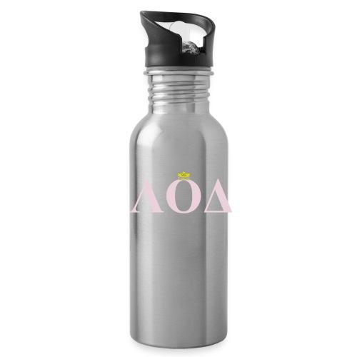 Crown Pink Letters - Water Bottle
