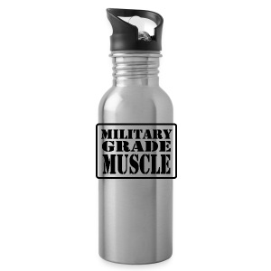 Military Grade Muscle Black - Water Bottle