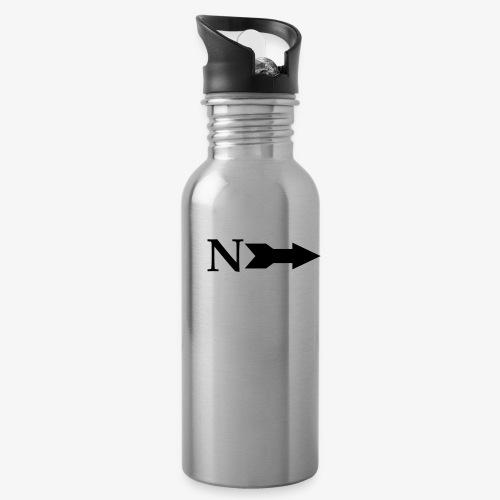 Narrow Logo Black - Water Bottle