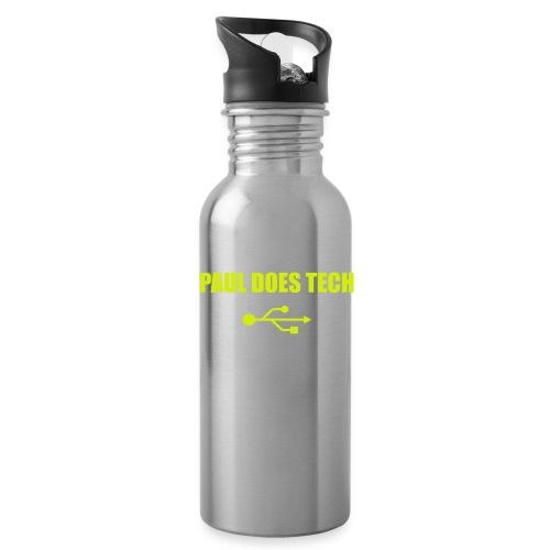 Paul Does Tech Yellow Logo With USB (MERCH) - Water Bottle