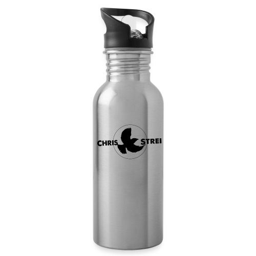 Chris Strei BlackBird Logo (black) - Water Bottle