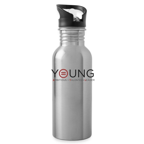T Logo Black Text - Water Bottle