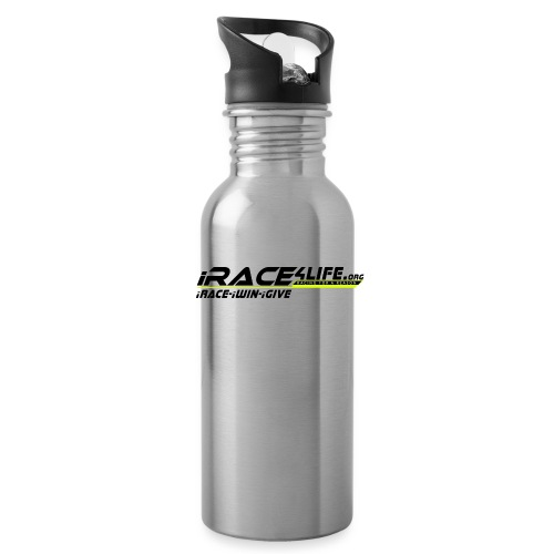 iRace4Life.org Logo with iRace-iWin-iGive! - Water Bottle