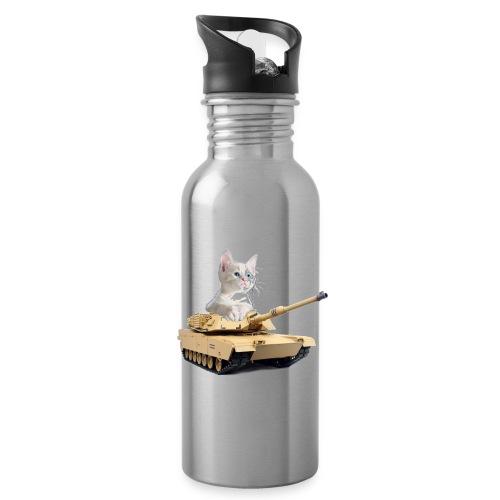 Tank Cat - funny Cat in a rc tank - Water Bottle