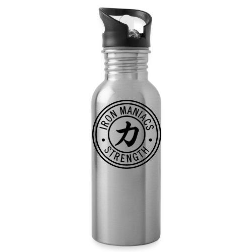 Iron Maniacs Logo - black - Water Bottle