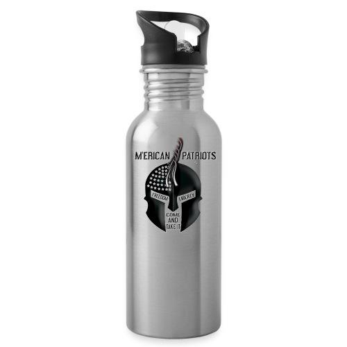 merican patriots logo - Water Bottle