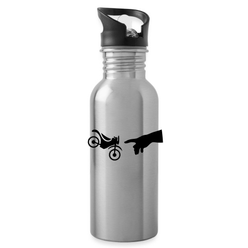 The hand of god brakes a motorcycle as an allegory - Water Bottle