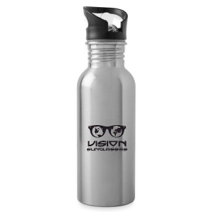 Vision Sunglasses White/Black - Water Bottle