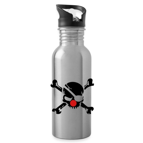 Clown Jolly Roger Pirate - Water Bottle