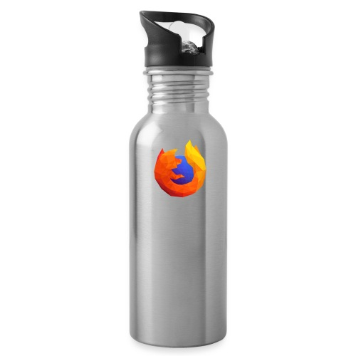 Firefox Reality - Transp., Vertical, White Text - Water Bottle