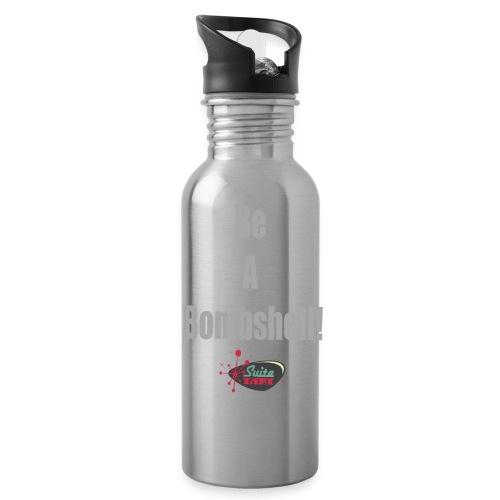 Be A Bombshell Grey Horizontal - Water Bottle