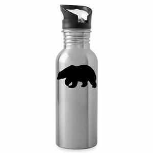 Bear Sihloette Design - Water Bottle