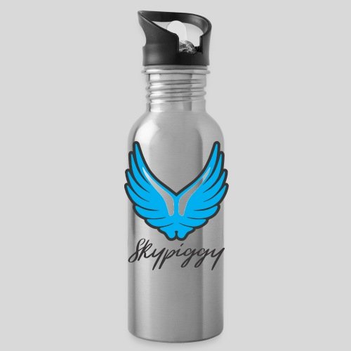 Skypiggy logo square light1 png - Water Bottle