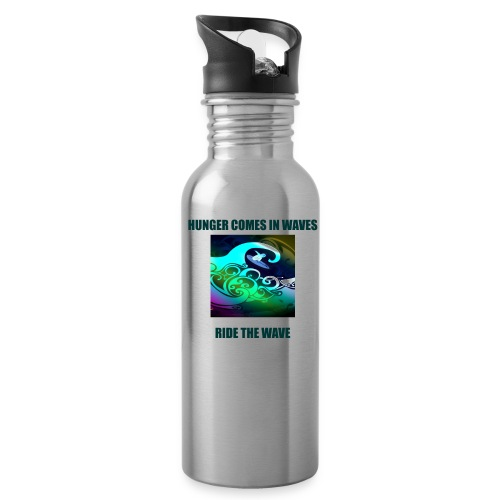 Hunger Comes In Waves - Water Bottle