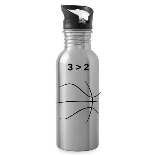 3 2 Basketball Black - Water Bottle