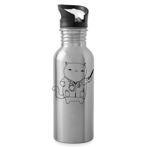 Cat Vet by Cassie Kitty Cassandra Graus (Black) - Water Bottle
