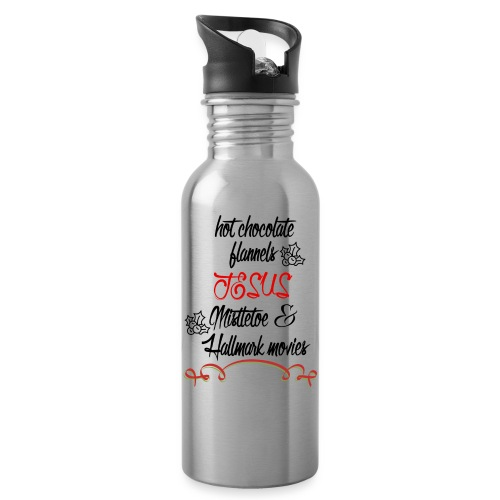 Christmas and Hallmark movies - Water Bottle