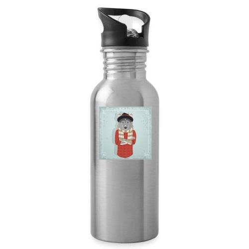 Hispter Dog - Water Bottle