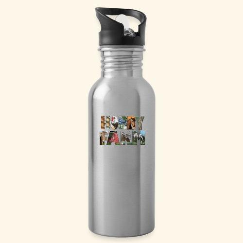 Island Hobby Farm White Logo - Water Bottle