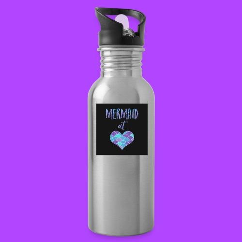 mermaid at heart - Water Bottle