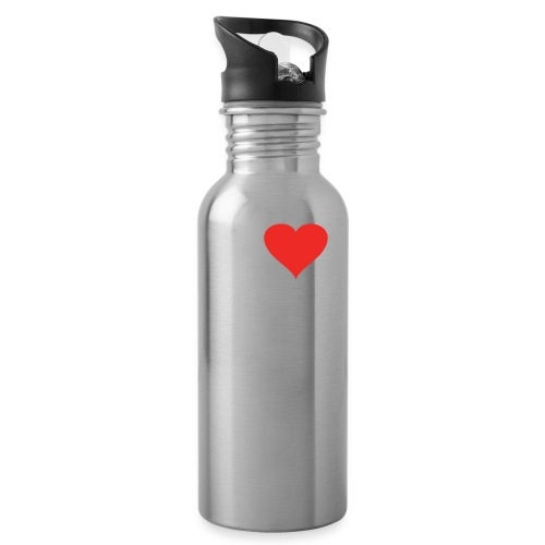 I Heart Small Business Logo (Red & White) - Water Bottle