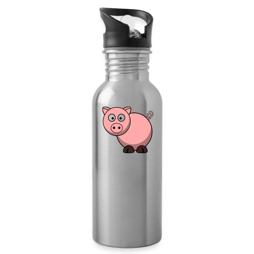 Funny Pig T-Shirt - Water Bottle